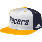 adidas Men's Indiana Pacers Wordmark Tri-Colored Adjustable Snapback Hat