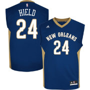 adidas Men's New Orleans Pelicans Buddy Hield #24 Road Navy Replica Jersey