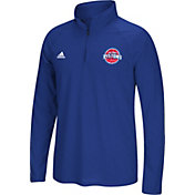 adidas Men's Detroit Pistons climalite Royal Ultimate Quarter-Zip Shirt