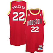 adidas Originals Men's Houston Rockets Clyde Drexler #22 Red Throwback Swingman Jersey