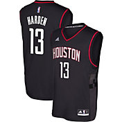 adidas Men's Houston Rockets James Harden #13 Alternate Black Replica Jersey