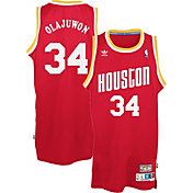 adidas Originals Men's Houston Rockets Hakeem Olajuwon #34 Red Throwback Swingman Jersey