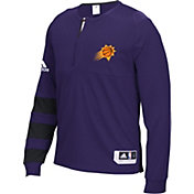 adidas Men's Phoenix Suns On-Court Purple Long Sleeve Shooting Shirt