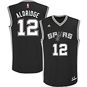 adidas Men's San Antonio Spurs LaMarcus Aldridge #12 Road Black Replica Jersey