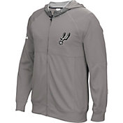 adidas Men's San Antonio Spurs Pre-Game Grey Full-Zip Hoodie