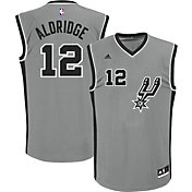 adidas Men's San Antonio Spurs LaMarcus Aldridge #12 Alternate Grey Replica Jersey