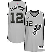 adidas Men's San Antonio Spurs LaMarcus Aldridge #12 Alternate Grey Swingman Jersey