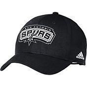 adidas Men's San Antonio Spurs Black Structured Adjustable Hat