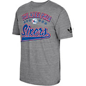 adidas Originals Men's Philadelphia 76ers Grey Tri-Blend T-Shirt