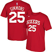 adidas Men's Philadelphia 76ers Ben Simmons #25 Red T-Shirt