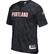 adidas Men's Portland Trail Blazers On-Court Black Shooting Shirt