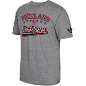 adidas Originals Men's Portland Trail Blazers Grey Tri-Blend T-Shirt