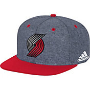 adidas Men's Portland Trail Blazers Grey Adjustable Snapback Hat