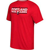adidas Men's Portland Trail Blazers climalite Red T-Shirt
