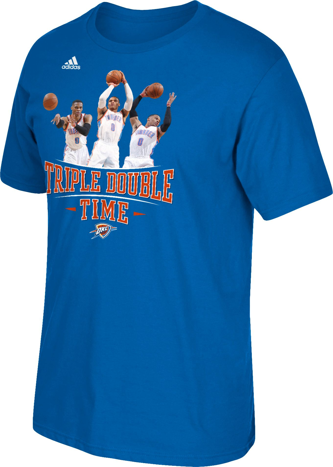 Product Image   adidas Men s Oklahoma City Thunder Russell Westbrook   Triple Double Time  Blue T Shirt. Oklahoma City Thunder NBA Men s Apparel   DICK S Sporting Goods