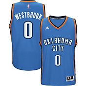 adidas Men's Oklahoma City Thunder Russell Westbrook #0 Road Blue Swingman Jersey