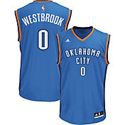 adidas Men's Oklahoma City Thunder Russell Westbrook #0 Road Blue Replica Jersey