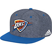 adidas Men's Oklahoma City Thunder Grey Adjustable Snapback Hat