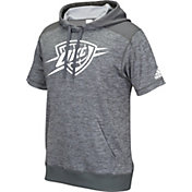 adidas Men's Oklahoma City Thunder Pre-Game Grey Short Sleeve Hoodie