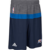 adidas Men's Oklahoma City Thunder Pre-Game Navy Shorts
