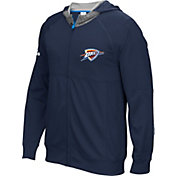 adidas Men's Oklahoma City Thunder Pre-Game Navy Full-Zip Hoodie