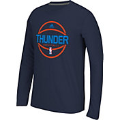adidas Men's Oklahoma City Thunder climalite Navy Long Sleeve Shirt