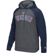 adidas Men's Oklahoma City Thunder climawarm Tip-Off Grey/Navy Hoodie