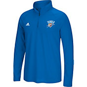 adidas Men's Oklahoma City Thunder climalite Royal Ultimate Quarter-Zip Shirt