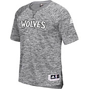 adidas Men's Minnesota Timberwolves On-Court Grey Shooting Shirt