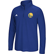 adidas Men's Golden State Warriors climalite Royal Ultimate Quarter-Zip Shirt