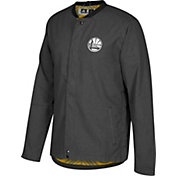 adidas Men's Golden State Warriors On-Court Black Button Down Jacket