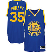 adidas Men's Golden State Warriors Kevin Durant #35 Road Royal Swingman Jersey