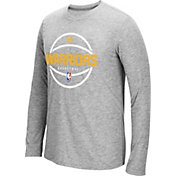 adidas Men's Golden State Warriors climalite Grey Long Sleeve Shirt