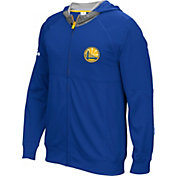 adidas Men's Golden State Warriors Pre-Game Royal Full-Zip Hoodie
