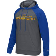 adidas Men's Golden State Warriors climawarm Tip-Off Grey/Royal Hoodie