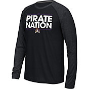 adidas Men's East Carolina Pirates Dassler Local Black Long Sleeve Shirt