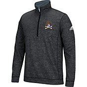 adidas Men's East Carolina Pirates Primary Screen Black Quarter-Zip Shirt