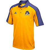 adidas Men's East Carolina Pirates Gold/Purple Sideline Performance Polo