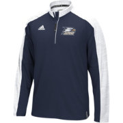 adidas Men's Georgia Southern Eagles Navy/Grey Sideline Long Sleeve Quarter-Zip Shirt