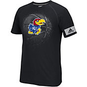 adidas Men's Kansas Jayhawks Black Reflective Break Basketball T-Shirt