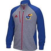 adidas Men's Kansas Jayhawks Grey/Blue Fleece Track Jacket