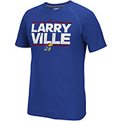 adidas Men's Kansas Jayhawks Blue Nickname Short Sleeve T-Shirt