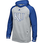 adidas Men's Kansas Jayhawks Grey Sideline Player Hoodie
