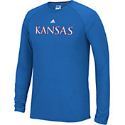 adidas Men's Kansas Jayhawks Blue Cut The Net Long Sleeve T-Shirt