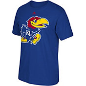 adidas Men's Kansas Jayhawks Blue Logo Basketball T-Shirt