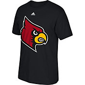 adidas Men's Louisville Cardinals Huge Logo Black T-Shirt