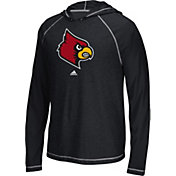 adidas Men's Louisville Cardinals Black Climalite Ultimate Long Sleeve Hoodie