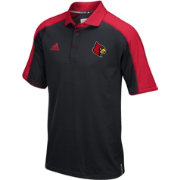 adidas Men's Louisville Cardinals Black/Red Sideline Performance Polo