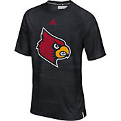 adidas Men's Louisville Cardinals Sideline Training Black T-Shirt