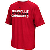 adidas Men's Louisville Cardinals Cardinal Red Climalite Basketball T-Shirt